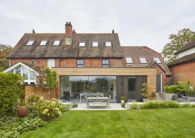 North facing extension creates bright social indoor/ outdoor space